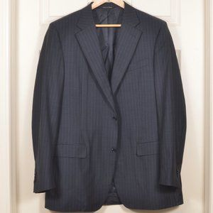 🇮🇹Canali 56L Navy Blue Pinstripe Suit